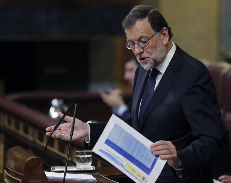 El presidente del Gobierno en funciones, Mariano Rajoy, durante una de sus intervenciones.