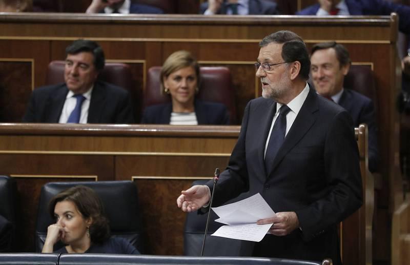 Rajoy, en mitad de una intervención
