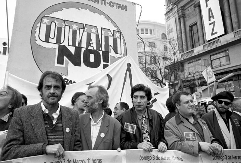 Sabina, en una manifestación contra la Guerra del Golfo