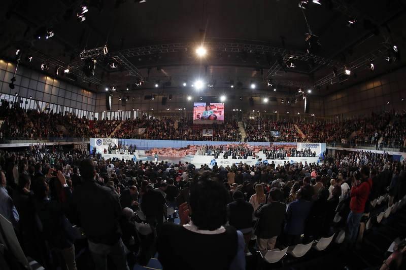 Vista general de la Caja Mágica durante el congreso del PP