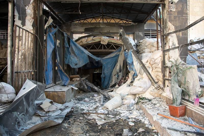 Hospital bombardeado en el este de Alepo