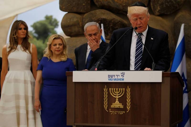 Resultado de imagen de Netanyahu Trump kipa