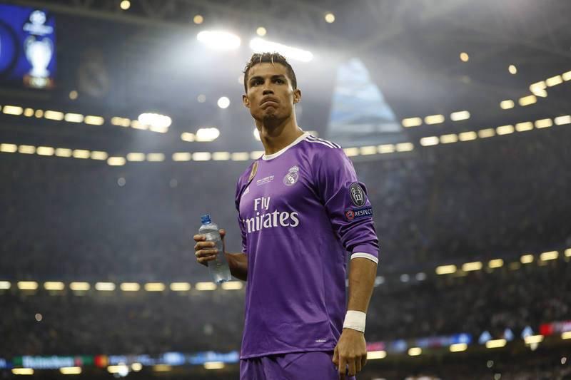 Cristiano Ronaldo, la estrella del Real Madrid, instantes antes del comienzo de la final de Champions.