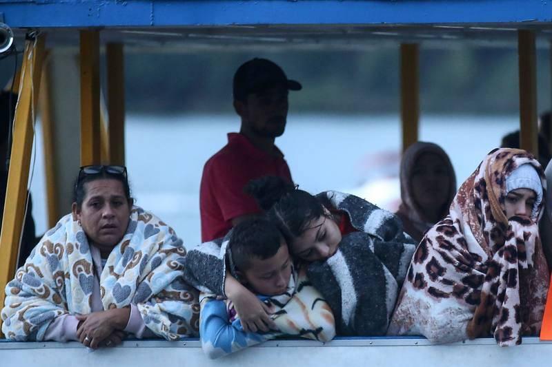 Supervivientes del naufragio en el embalse de Guatapé, Antioquia.