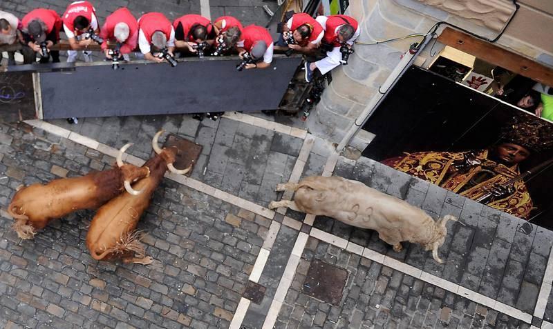 Los Jandilla han ido tan rápidos que el grueso de la manada ya corría por Estafeta cuando habían pasado 1 minuto y 10 segundos