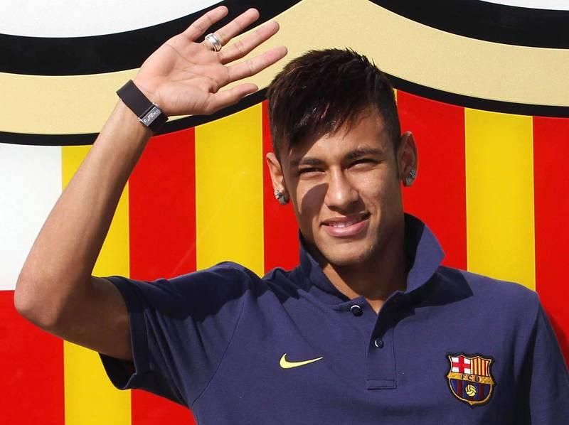 Neymar se presentó con el Barça el 3 de junio de 2013