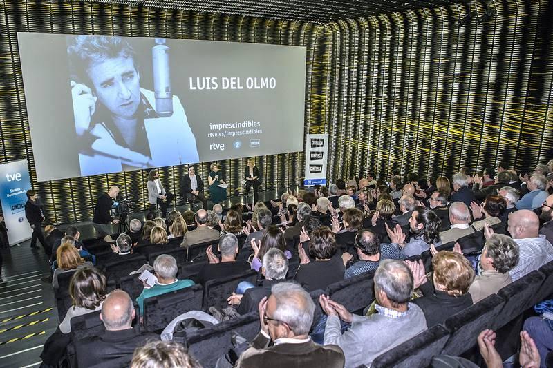 """La sala de Cineteca Madrid, durante la presentación del documental """"Luis del Olmo. Protagonista"""""""