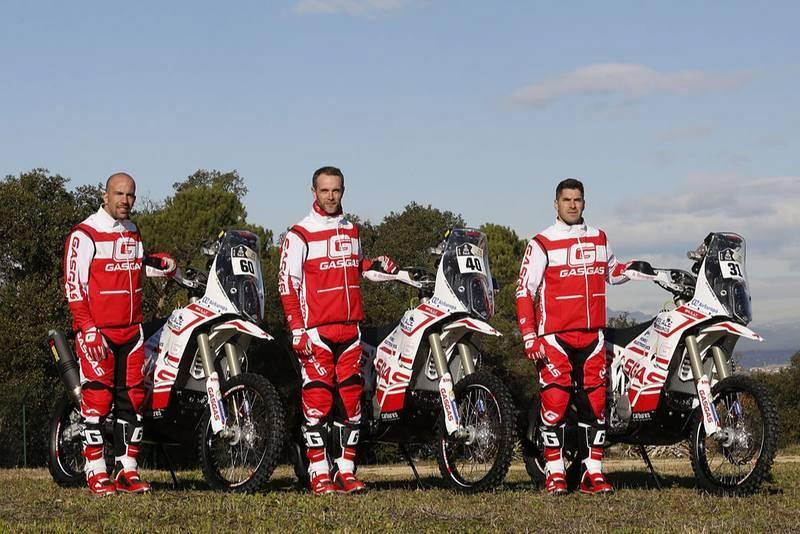 Jonathan Barragán, Johnny Aubert y Cristian España serán los pilotos del GasGas Rally Team en el Dakar 2018.