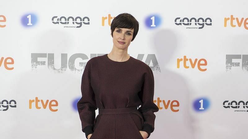 Paz Vega, en el photocall de la serie que protagoniza, 'Fugitiva'.