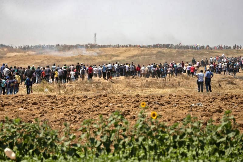 Protestas contra la inauguración de la embajada estadounidense en Jerusalén