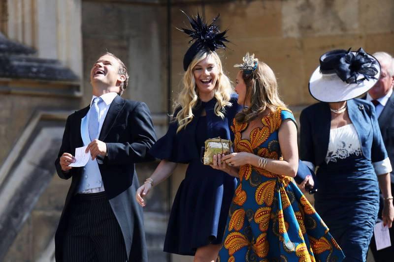 Chelsy Davy, expareja del príncipe Enrique, a su llegada a la boda real