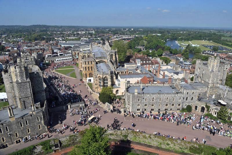 Imagen aérea del castillo de Windsor