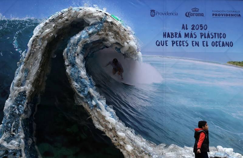 Más plásticos que peces en los océanos