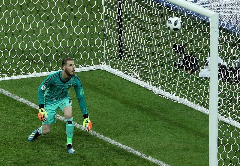 De Gea no tuvo su noche ante Portugal.