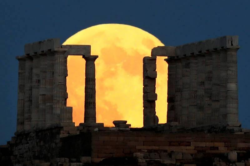 Eclipse de Luna en Grecia