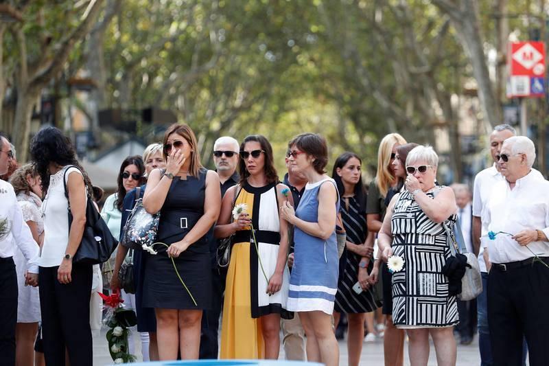 Primer aniversario de los atentados del 17A en Barcelona y Cambrils
