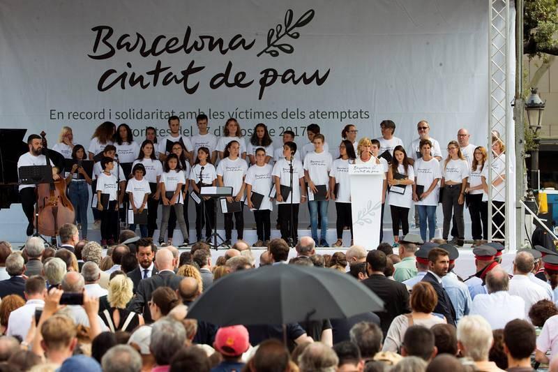 Memorial en la plaza de Cataluña