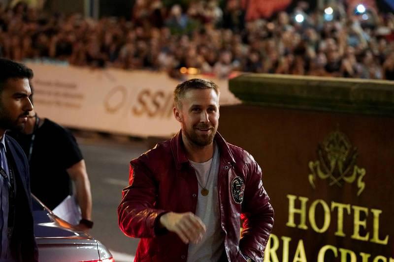El actor canadiense Ryan Gosling a su llegada al Festival Internacional de Cine de San Sebastián