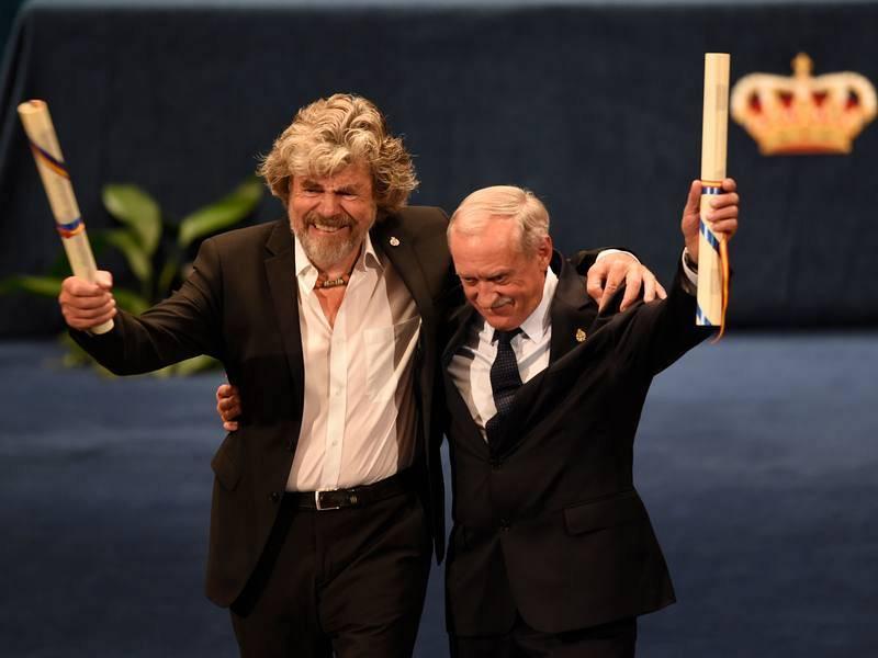 Reinhold Messner y Krzysztof Wielicki, premio Princesa de Asturias de los Deportes 2018.