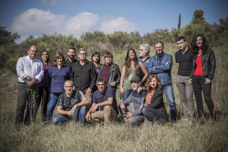 Equipo de TVE de ¡Qué animal! y colaboradores del programa
