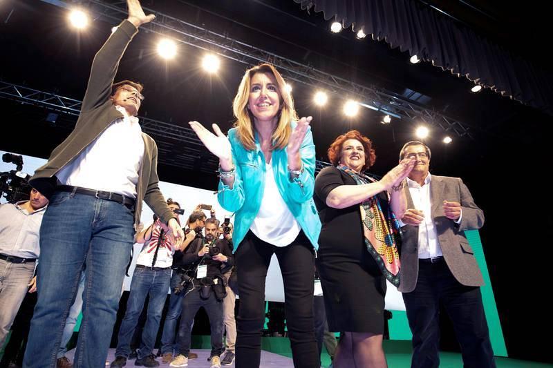 Susana Díaz comienza la campaña electoral en Granada