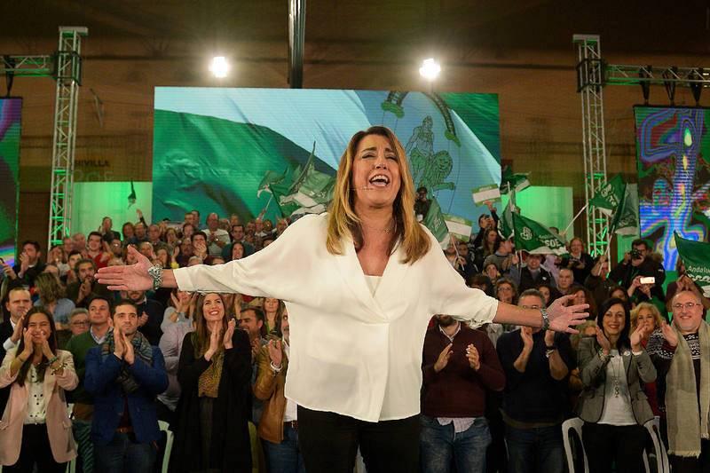 Cierre de campaña de Susana Díaz en Sevilla