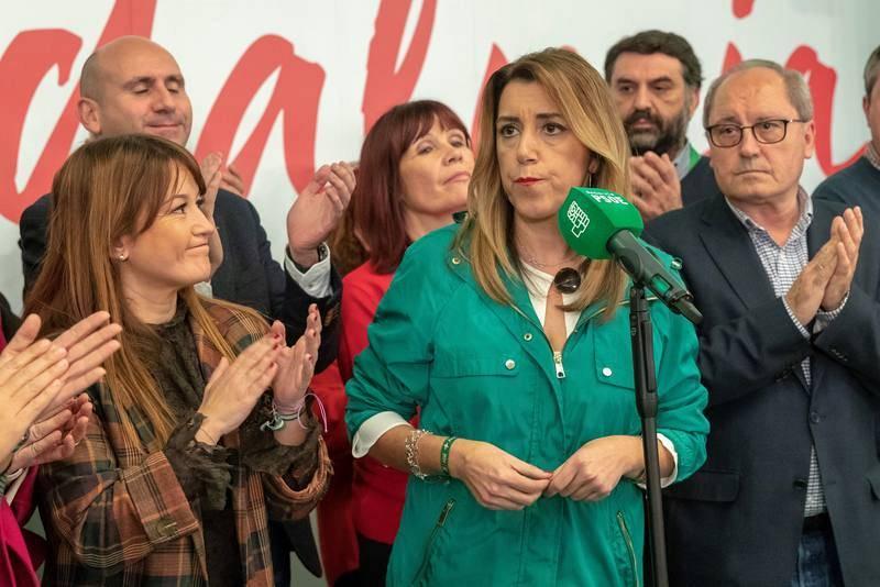 Susana Díaz comparece tras las elecciones andaluzas