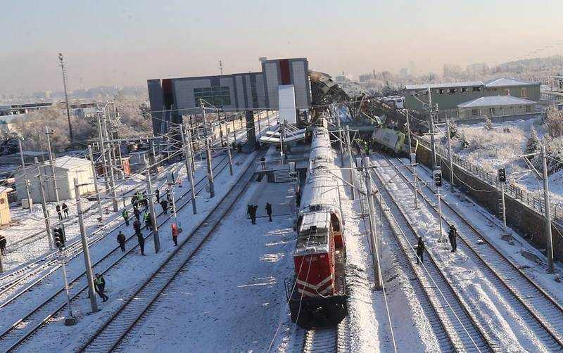 Accidente ferroviario en Ankara