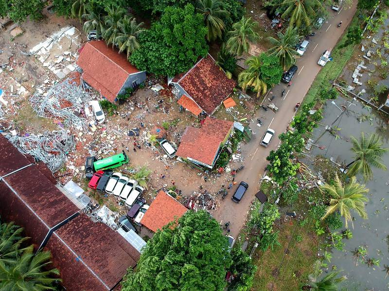 Vista aérea de los destrozos causados en Carita