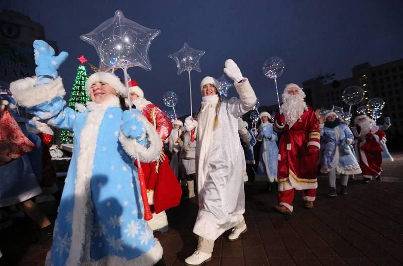 Desfile de Navidad en Bielorrusia
