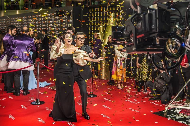 Goya 2019 - Cámara glamour de RTVE.es con Silvia Abril y Andreu Buenafuente
