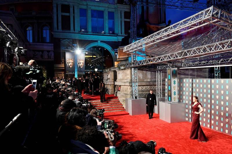 La alfombra roja de los Bafta en el Royal Albert Hall en Londres