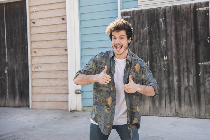 Miki durante el rodaje del videoclip de 'La venda'