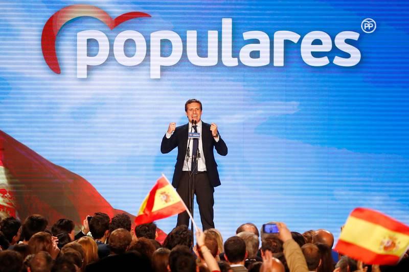 El líder del PP ha iniciado su discurso en Madrid antes del inicio de campaña de las Elecciones generales.