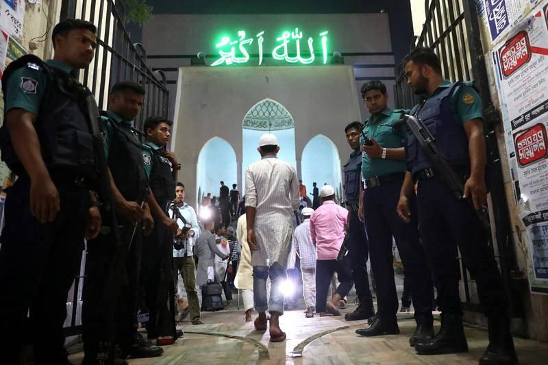 La Mezquita Nacional Baitul Mukarram ha reforzado su seguridad tras la cadena de atentados en Sri Lanka