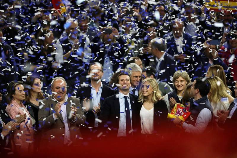 Pablo Casado termina la campaña en el WiZink de Madrid