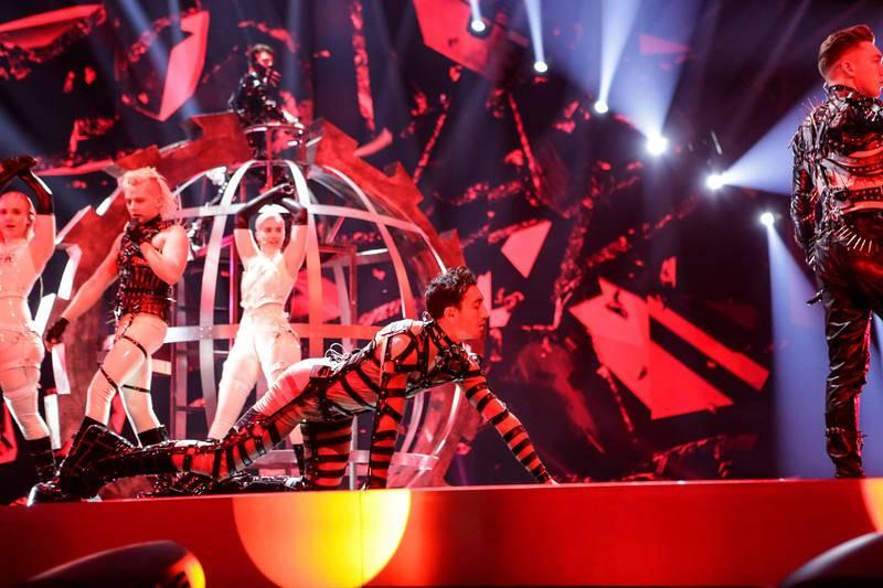 El grupo Hatari (Islandia) ensaya por primera vez en Eurovisión 2019