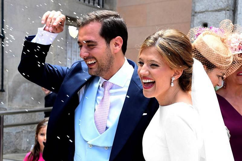 Pablo Pérezha contraído matrimonio con Paloma Cantalejoen la Colegiata de la Santísima Trinidad, en La Granja (Segovia)