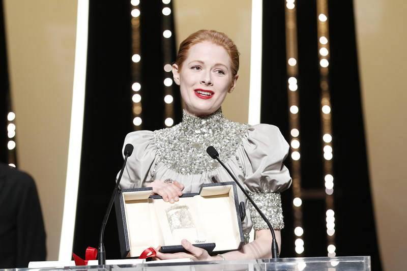 La actriz británica Emily Beecham, premio a la Mejor actriz por Little Joe.