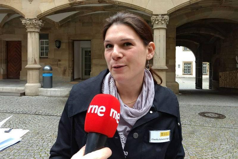 Claudia Schemminger, guía de Stuttgart.