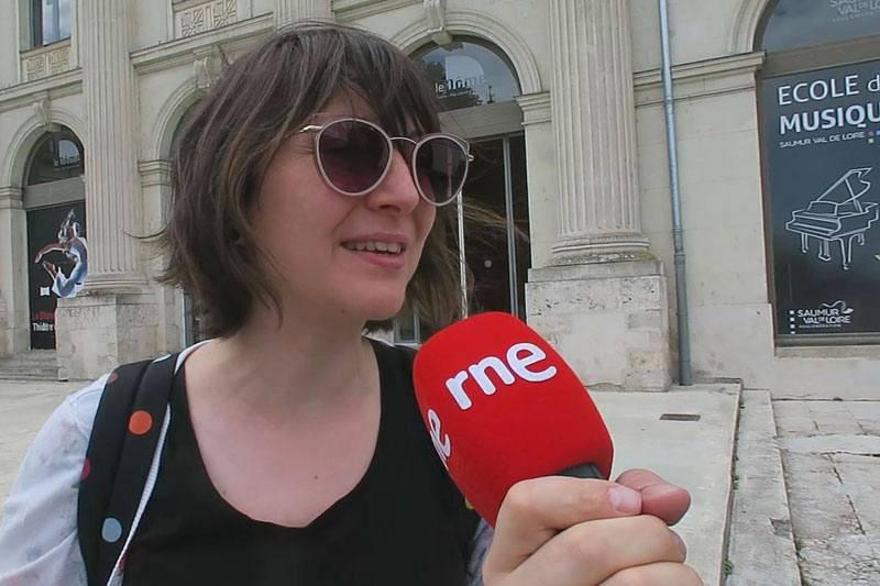 Julie Hénault, guía de Saumur.