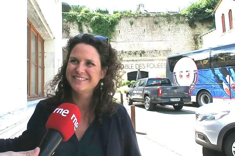 Emilie Arribas, oficina de turismo de Saumur Val de Loire.