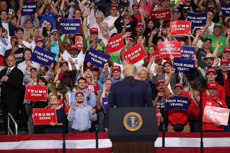 El acto formal de campaña de Donald Trump para su reelección en 2020