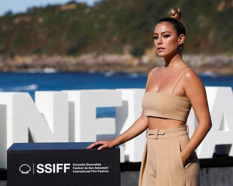 La actriz Blanca Suárez posa durante la presentación de la película 'El verano que vivimos'