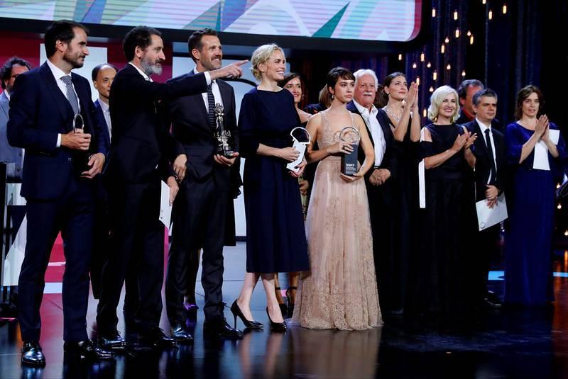 Imagen de los galardonados en la 67 edición del Festival Internacional de Cine de San Sebastián