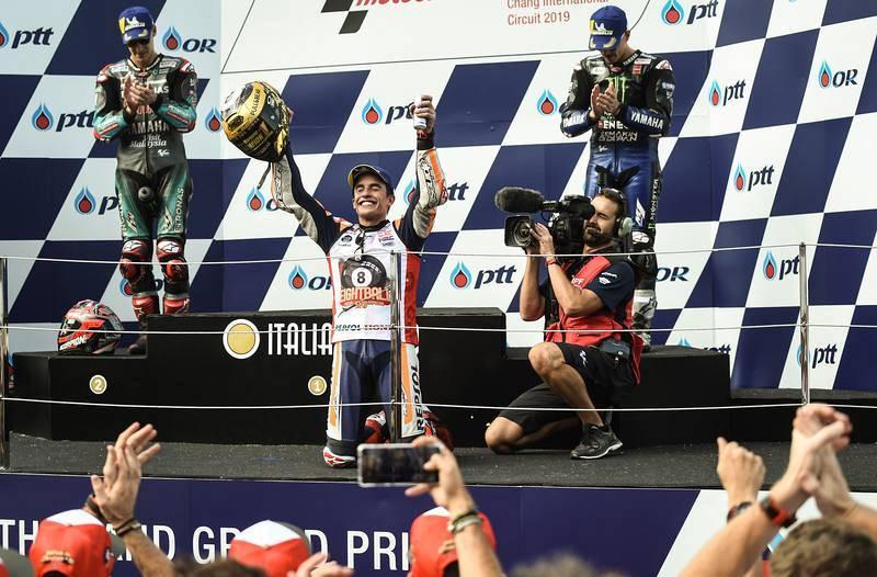 Márquez gana el Mundial en Tailandia