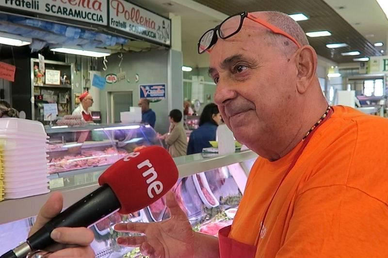 Sergio Masella, carnicero del mercado San Benedetto (Cagliari).