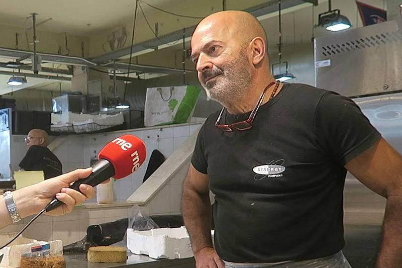 Palmas Domenico, pescadero del mercado San Benedetto (Cagliari).