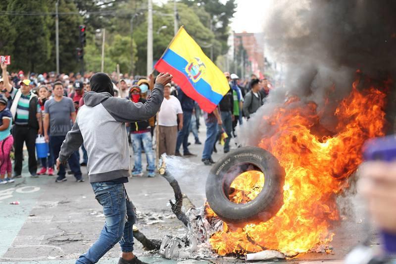 Las protestas en Ecuador, en imágenes