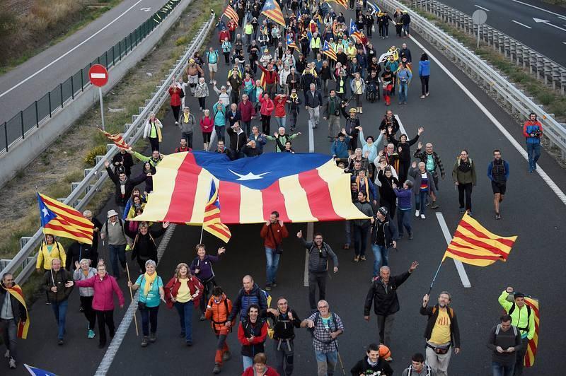 Independentistas en ''Marchas por la libertad''